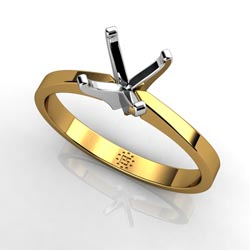 Warm & Inviting 14k Yellow Gold Four-Prong Ring Setting